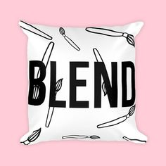 Blend Makeup Decor Pillows With Words Pillow Covers 18x18