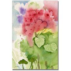 Trademark Art Geraniums Canvas Wall Art by Shelia Golden, Size: 35 x 47, Multicolor