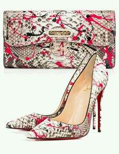 How cute is this the heels / clutch combo (great print)