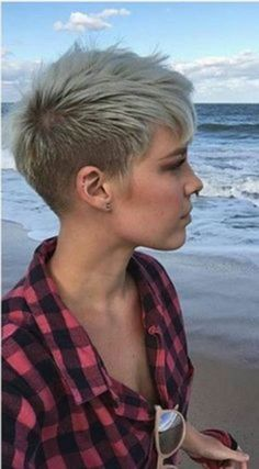"Funky Pixie Cut Women 2018 - Reny styles, , Hairstyle,"" , "" or "" New Short Hairstyles, Short Pixie Haircuts, Undercut Hairstyles, Pixie Hairstyles, Short Hair Cuts, Casual Hairstyles, Funky Short Hair, Boy Haircuts, Blonde Hairstyles"