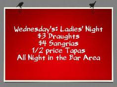 Ladies' night all night!!