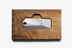 Bre & Co. Shard   Ergonomic Steel Key Fob The Shard, Reclaimed Lumber, Concave, 316l Stainless Steel, Shapes, How To Make, Key, Unique Key, Keys