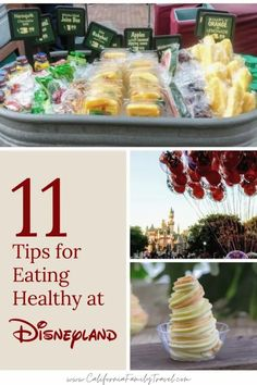 There are so many options for eating healthy at Disneyland! Here are 11 tips for staying active and eating healthy at the Disneyland Resort. #disneyland #healthyeating #familytravel Disneyland Secrets, Disneyland Food, Disneyland Vacation, Disneyland California, Disney California Adventure, California Travel, California Attractions, Florida Travel, Southern California