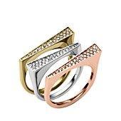 Michael Kors Pav� Tri-Tone Stackable Rings, Set of 3