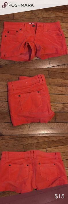 Corduroy shorts Orange corduroy shorts worn once Shorts