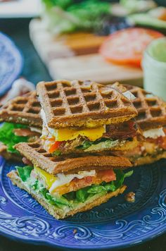 Grain-Free Sweet Potato Waffle Breakfast BLT With Garlic Basil Aioli   soletshangout.com #glutenfree #paleo #grainfree this sounds fairly simple and SERIOUSLY good... no waffle iron, then pancakes!!