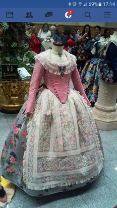 pink and blue gown 18th Century Dress, 18th Century Costume, 18th Century Fashion, Renaissance Fair Costume, Renaissance Fashion, Vintage Dresses, Vintage Outfits, Vintage Fashion, Historical Costume