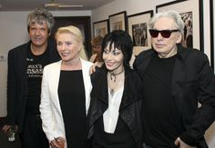 Chris Stein, Debbie Harry, Clem Burke and Joan Jett attend the opening of Stein's photography exhibition 'Chris Stein: Hell In The City of Angeles' at the Morrison Hotel Gallery in West Hollywood, California.