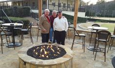 Hoover Country Club 2016 New Fire Pit on Patio.