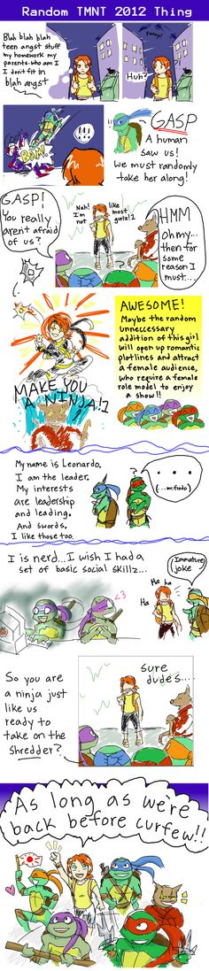I don't want this TMNT by ~Hilighter on deviantART<--- ha! This is kinda how it is, but they make it work!!