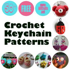 Pinterest image 50+ Crochet Key Chains Patterns