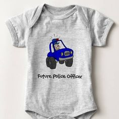 Future Police Officer Baby Bodysuit One Piece Infant Newborn