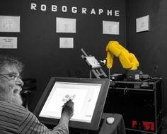 Robographe, Laval Virtual 2010 (avec la participation du dessinateur de SPIROU Jean Claude Fournier)