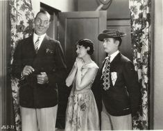 "Karl Dane, Louise Lorraine and George K. Arthur in ""Baby Mine"" (1928)"