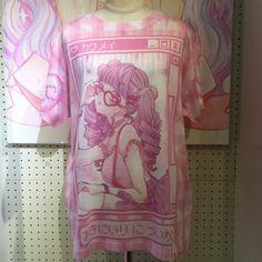 【全面両面プリント】(L)サイズのみ。「て○し×め○へら」Tシャツ illustration by 空亜