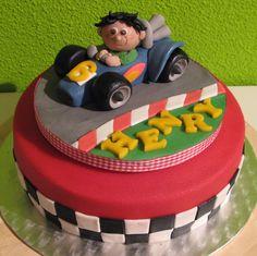 Racing car cake - Taartmama.nl