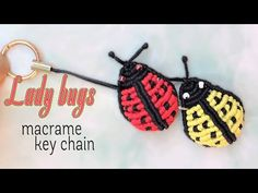 How to make a 3D macrame hat-Easy macrame tutorial key chain - Hướng dẫn thắt móc khóa mũ rơm Luffy - YouTube