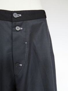 umit unal wool trousers fly detailing - love the contrast stitching