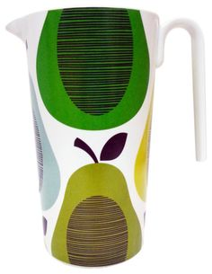 Melamine Pitcher, Giant Pear and Peppermint Green contemporary-pitchers