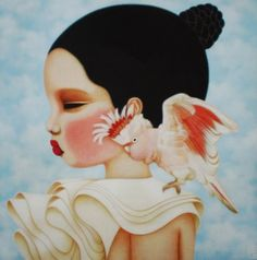 This is a piece from an Australian Artist, Poh Ling Yeow. We went to University together and she's done really well as an artist and as a chef coming from the tv show Master Chef.     I really  love her style and I'd like to own a Poh piece one day soon.