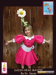 Dr. Seuss Daisy Head Mayzie costume #halloween