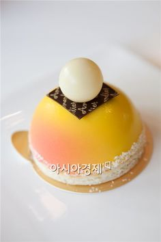 Passion Fruit Caramel Gateau at Amandier, a bakery in Insa-dong, Seoul, Korea!