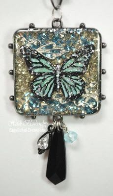 Cool2Cast Butterfly in ICE Resin Bezel Necklace