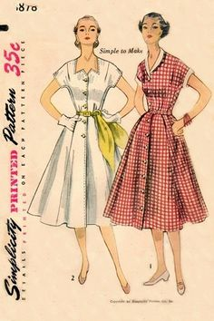 Simplicity 3878 April Love Dress / ca. 1952