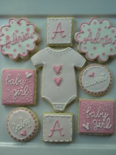 434647e17 75 Best Baby Girl Cookies images | Decorated Cookies, Baby Shower ...