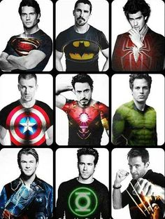 The beautiful Marvel & DC superheroes we are blessed with.