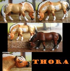 The brown pony is the original model Schleich Horses Stable, Horse Stables, Breyer Horses, Mini Stuff, Horse Photography, Horse Art, Saddles, Safari, Pony