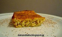Σιροπιαστή γιαουρτόπιτα Ντουκάν Diet Desserts, Diet Recipes, Dukan Diet, Lasagna, Quiche, Pie, Breakfast, Ethnic Recipes, Food