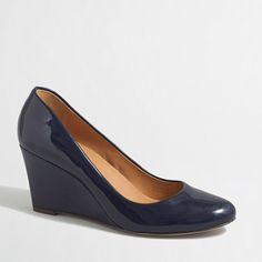 Shop the Sylvia Patent Wedges at J.Crew Factory and find everyday deals on Women& Shoes. Shoes Heels Wedges, Women's Pumps, Wedge Shoes, Women's Shoes, J Crew Shoes, Shops, Discount Mens Clothing, Skirts With Boots, J Crew Style