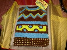 Tacky Sweater Cake...make in christmas colors and perfect for tacky christmas sweater party