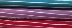 Streifen Stoffe Jersey Interlock 3x 0,5m Biostoff von HeyMo Kids auf DaWanda.com