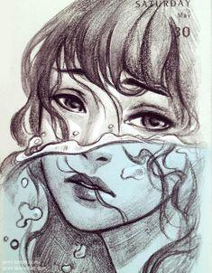 Drowning by Qinni.deviantart.com on @DeviantArt