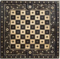 Chess and goose game board Date: 16th century Culture: Northern Italian Medium: Ebony, ebonized wood, ivory, green-dyed ivory, horn, gold wire Dimensions: L. 16 15/16 in. (43.0 cm.); W. 16 1/2 in. (41.9 cm.); Th. 1 1/8 in. (2.9 cm.) Classification: Chess Sets Credit Line: Pfeiffer Fund, 1962