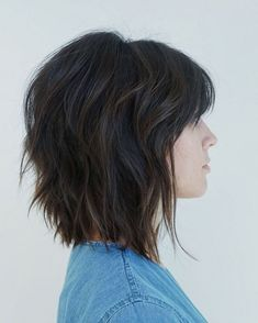 Pretty Shaggy Brunette Bob The sassy brunette bob is a modern twist on the traditional short shag haircut. Modern Shag Haircut, Short Shag Haircuts, Choppy Bob Hairstyles, Straight Hairstyles, Longer Bob Hairstyles, Medium Shag Hairstyles, Amazing Hairstyles, Medium Hair Styles, Short Hair Styles