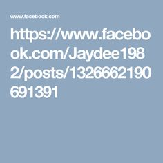 https://www.facebook.com/Jaydee1982/posts/1326662190691391