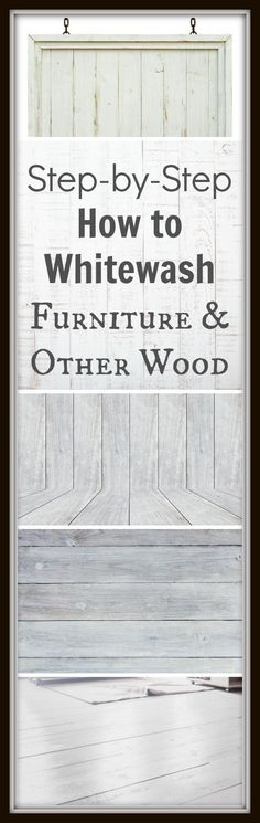 DIY Furniture Refinishing Tips - Whitewashing Furniture - Creative Ways to Redo Furniture With Paint and DIY Project Techniques - Awesome Dressers, Kitchen Cabinets, Tables and Beds - Rustic and Distressed Looks Made Easy With Step by Step Tutorials Repurposed Furniture, Rustic Furniture, Home Furniture, Furniture Plans, Distressed Furniture, Furniture Stores, Distressed Wood, Farmhouse Furniture, Weathered Wood