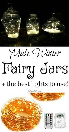How to Make Christmas Fairy Jars using an assortment of glass jars from HomeGoods! kellyelko.com sponsored