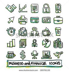 hand drawn business icons - Szukaj w Google