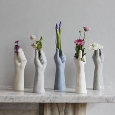 Porcelain Flower Vase – It is a single porcelain stem or bloom flower hand vase. It makes a unique gift for a home, Wedding Anniversary, for mothers or friends. This delicately hand crafted hand v 9th Wedding Anniversary, Anniversary Gifts, Keramik Design, Hand Flowers, Unique Gifts For Women, House Gifts, Flower Vases, Vase For Flowers, Flower Vase Design