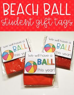 Back to School Freebie! | Use this FREE download to give your students a small gift for back to school night, open house, or meet the teacher night. Print, cut, fold, and tape them onto the beach balls. These work great for the preschool, Kindergarten, 1st, 2nd, 3rd, or 4th grade classroom. Grab this freebie now!
