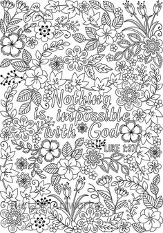 Three Bible Coloring Pages for Grown-ups; 3 Coloring Posters with Inspiring Bible Verses Coloring Pages For Grown Ups, Online Coloring Pages, Printable Adult Coloring Pages, Coloring Book Pages, Coloring Set, Coloring Stuff, Bible Verse Coloring Page, Religion Catolica, Color Quotes