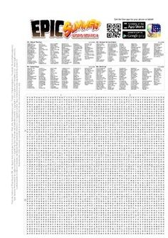This is a free word search containing 100 words associated ...