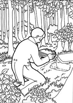 Chapter 1: How we got the BOM Joseph Smith receives the gold plates coloring page