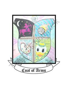 Coat of Arms Project from Think Bright on TeachersNotebook.com -  (6 pages)  - Create an artistic coat of arms with a modern style.