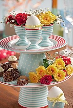 just bowls and plates and some egg cups....how cute!