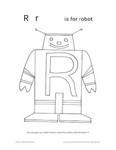Robot Colouring Pages  Activity Village